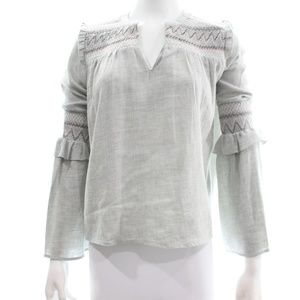 ZARA BASIC COLLECTION GREY COTTON BLEND TOP XS